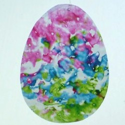 Image of Crayon Easter Egg Sun Catcher