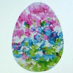 Crayon Easter Egg Sun Catcher
