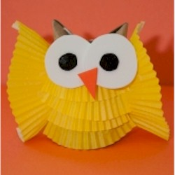 Image of Cupcake Liner Owl