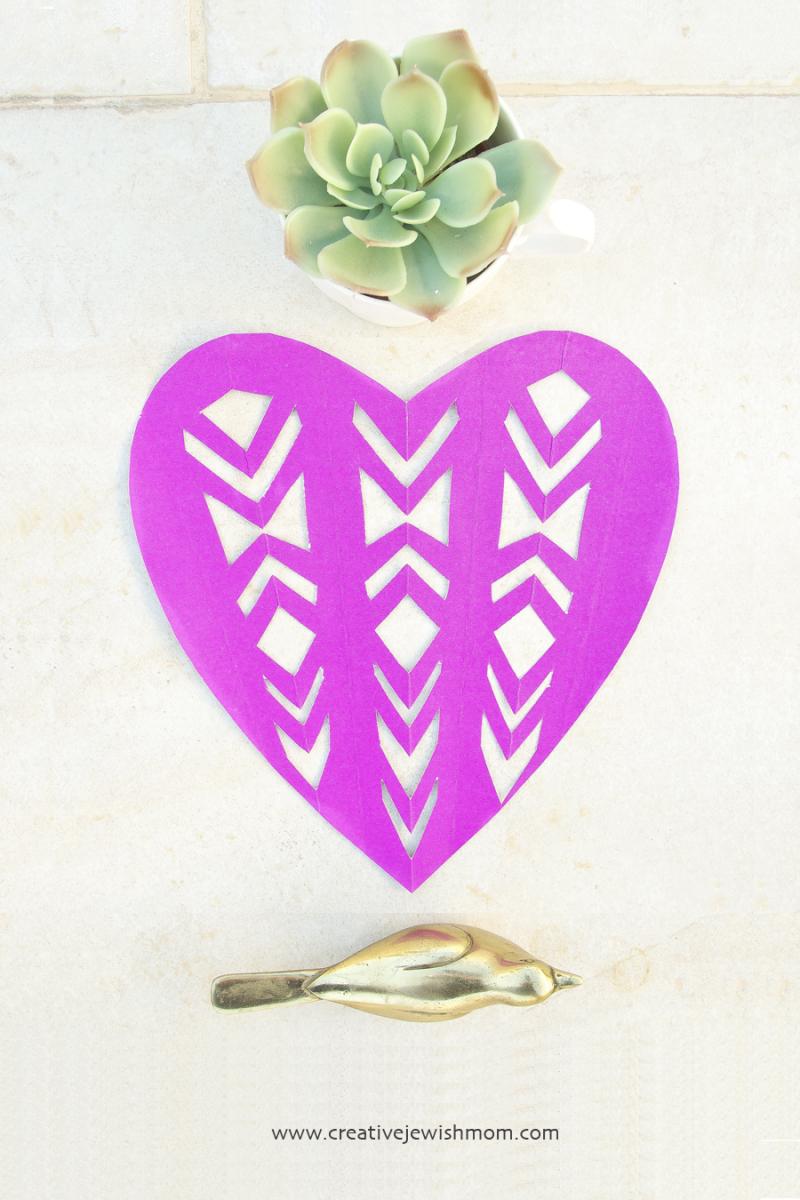 Image of Fancy Cut Paper Valentine