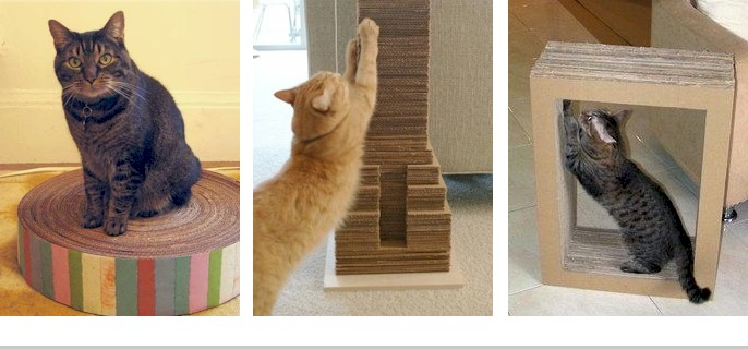 how to make a cat scratching post out of cardboard