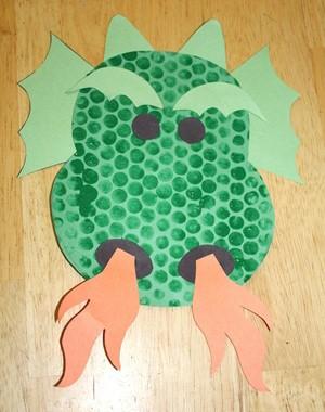 Image of Dragon Bubble Wrap Print