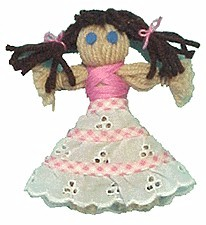 Dressy Yarn Doll