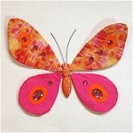 Image of Butterfly Made From Tissue Paper