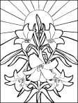 Picture of Easter Lilies to color