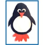 Image of Simple Paper Plate Penguin