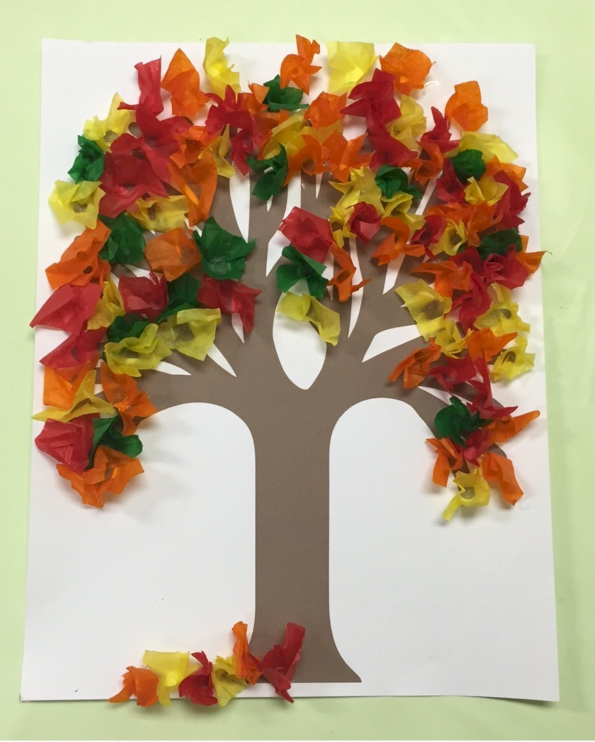 Image of Fall Tissue Paper Tree