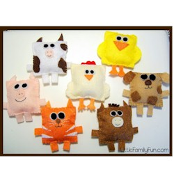 Felt Farm Animals