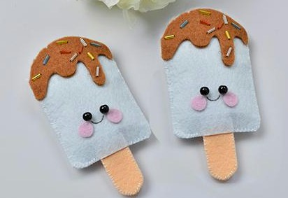 Image of Felt Ice Cream Pops