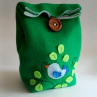 Image of Felt Lunch Bag