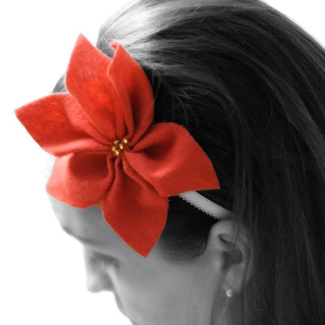 Image of Felt Poinsettia Headband