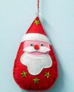 Image of Felt Santa Ornament