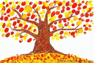 Image of Thumbprint Fall Tree