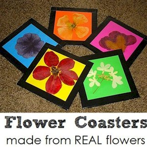Make Flower Coasters