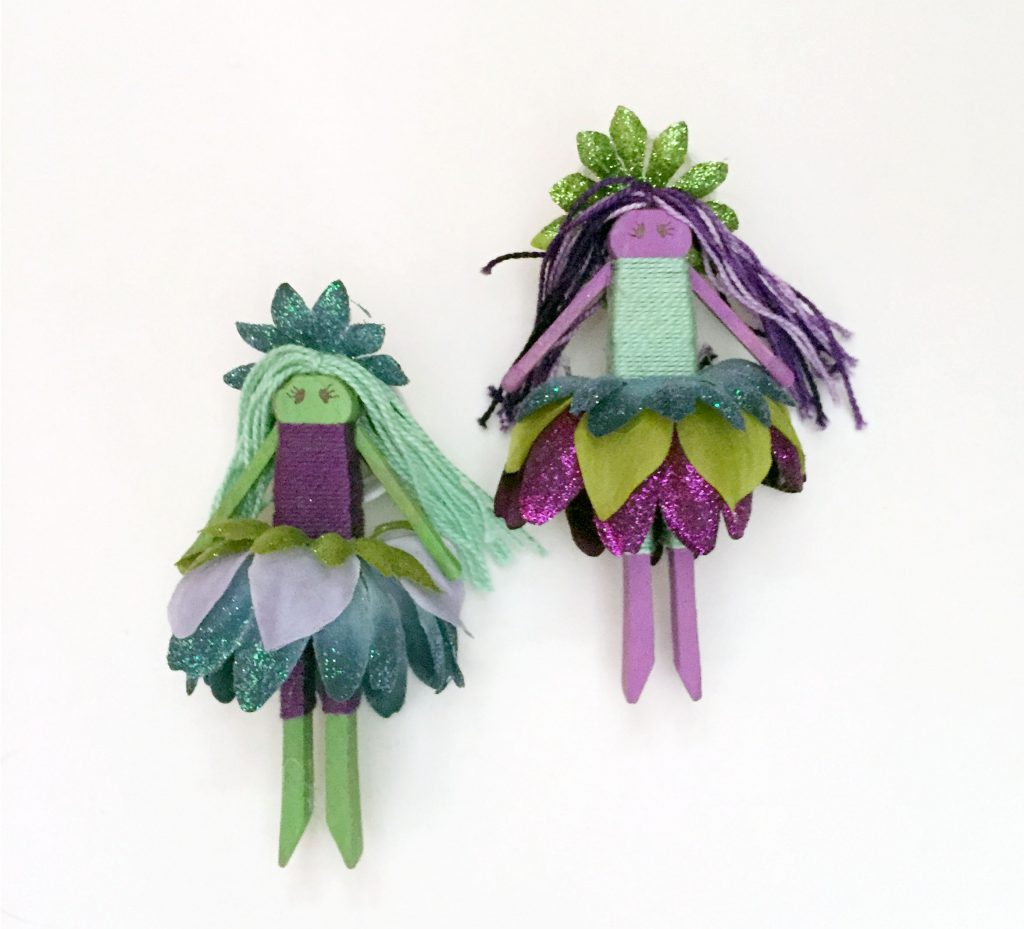 Image of Flower Fairy Clothespin Dolls