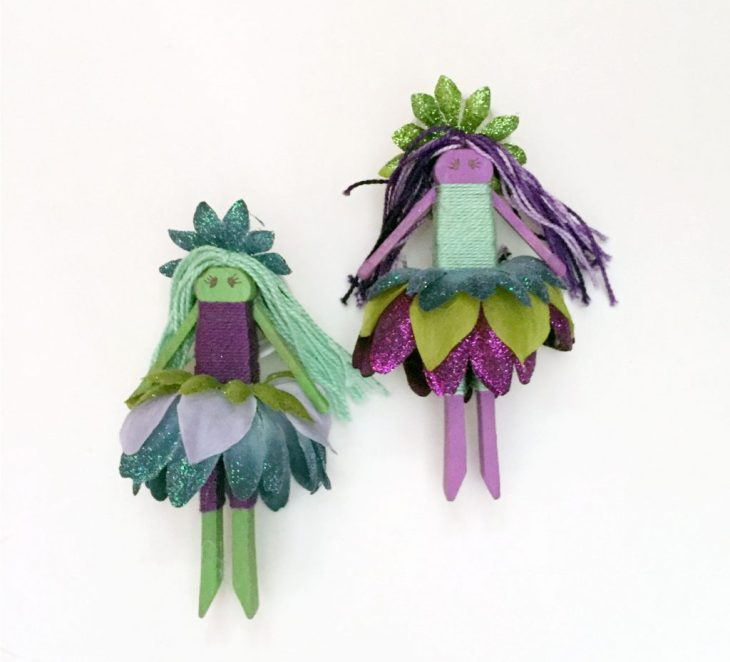 Flower Fairy Clothespin Dolls