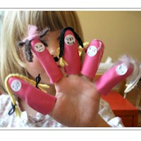 Image of Rubber Glove Finger Puppets