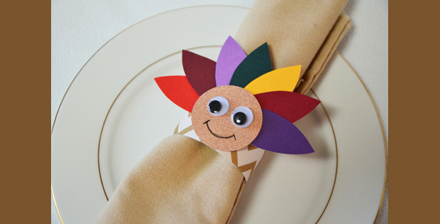 Image of Thanksgiving Turkey Napkin Ring