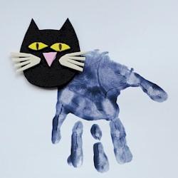 Image of Handprint Black Cat