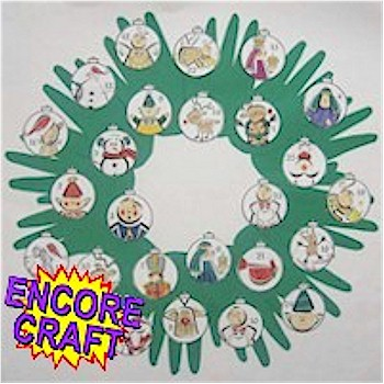 Image of Handprint Countdown Wreath