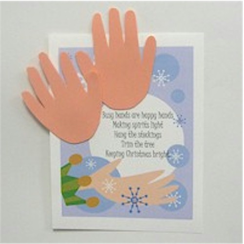 Image of Handprint Christmas Poem