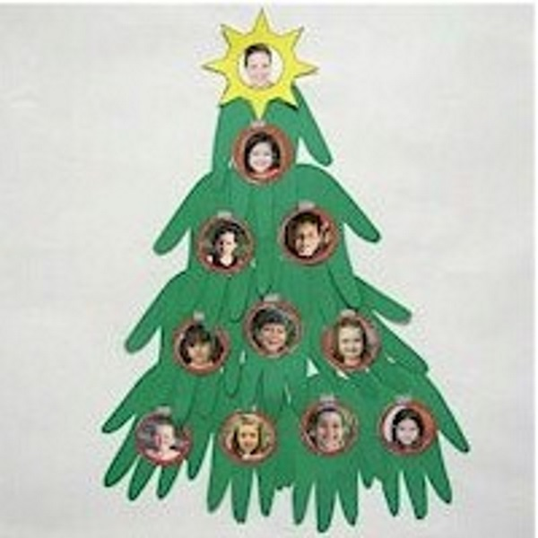 Image of Handprint Christmas Tree