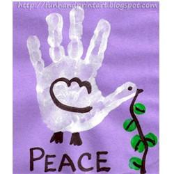 Image of Handprint Peace Dove