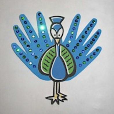 Image of Handprint Peacock