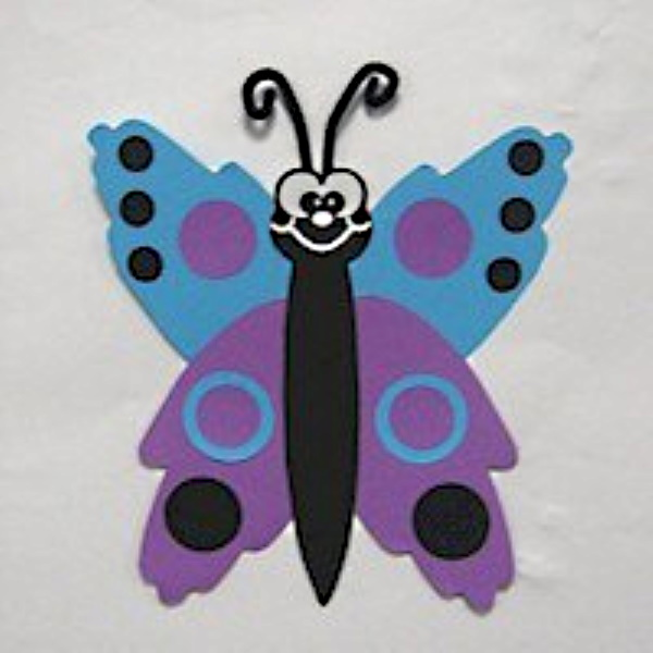 Handprint Butterfly made with paper instead of messy paint.