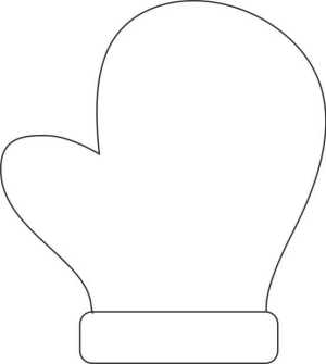 Image of Make A Handprint Mitten Decoration