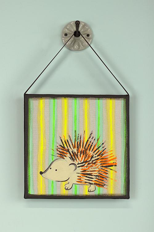 Porcupine Art With A Fork