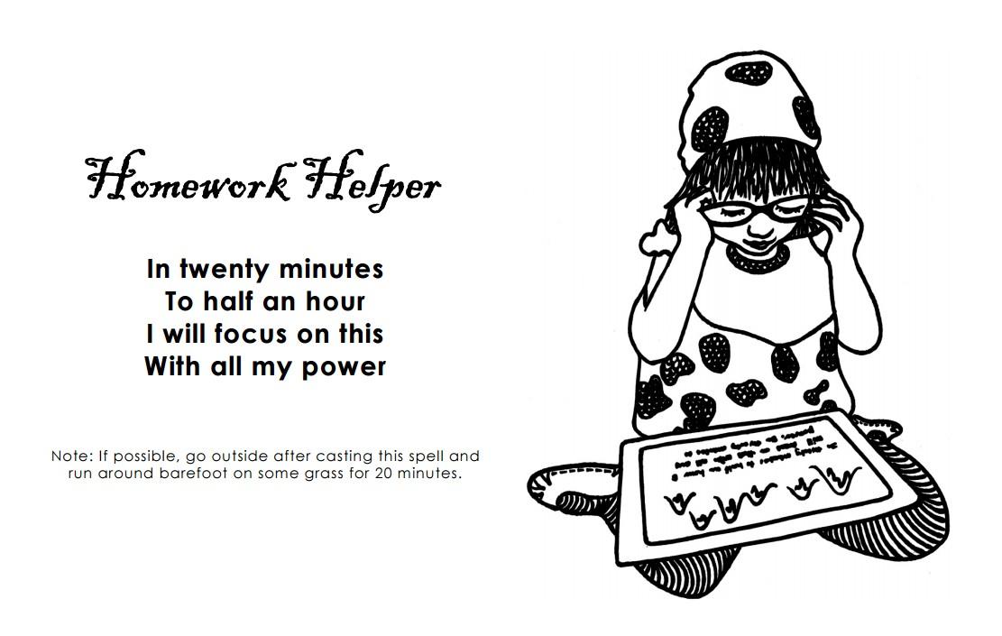Homework Helper Coloring Page