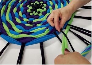 Image of Hula Hoop Weaving Tutorial