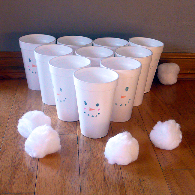 Indoor Snowball Game
