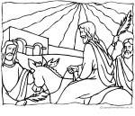 Image of Wisemen at the Nativity Coloring Page