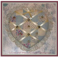 No Sew Heart Shaped Jewelry Holder