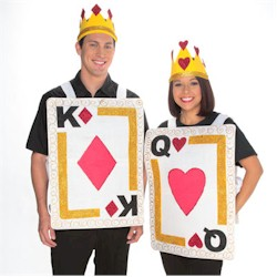 King & Queen Card Costume