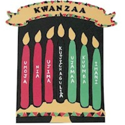 DIY Felt Kwanzaa Banner with pattern