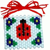 Image of Beaded Ladybug  Banner