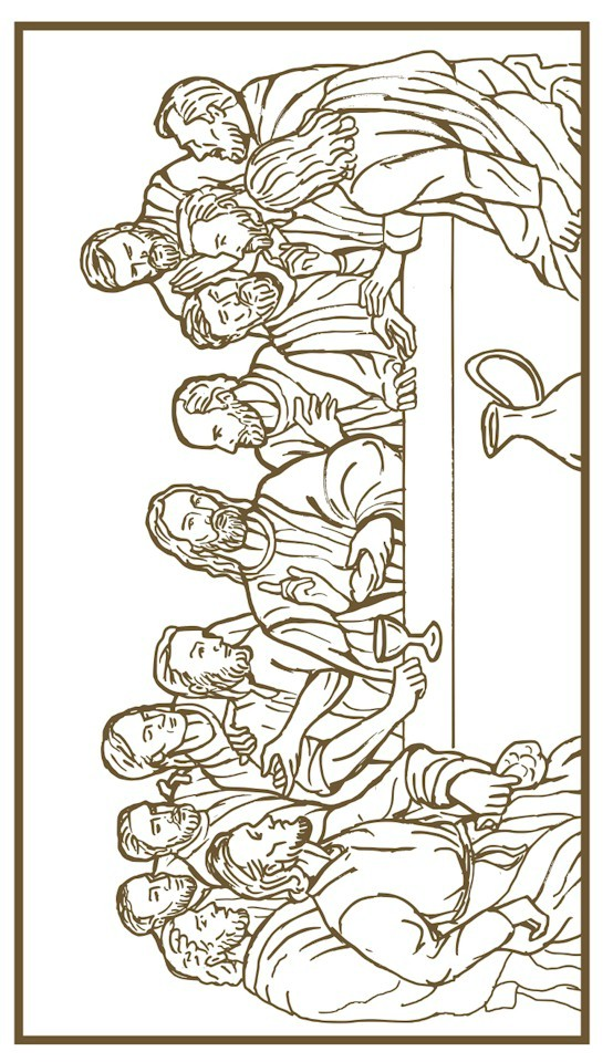 graphic regarding Last Supper Coloring Pages Printable referred to as Ultimate Dinner Coloring Site