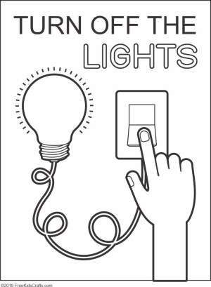 Image of Lights Off Coloring Page