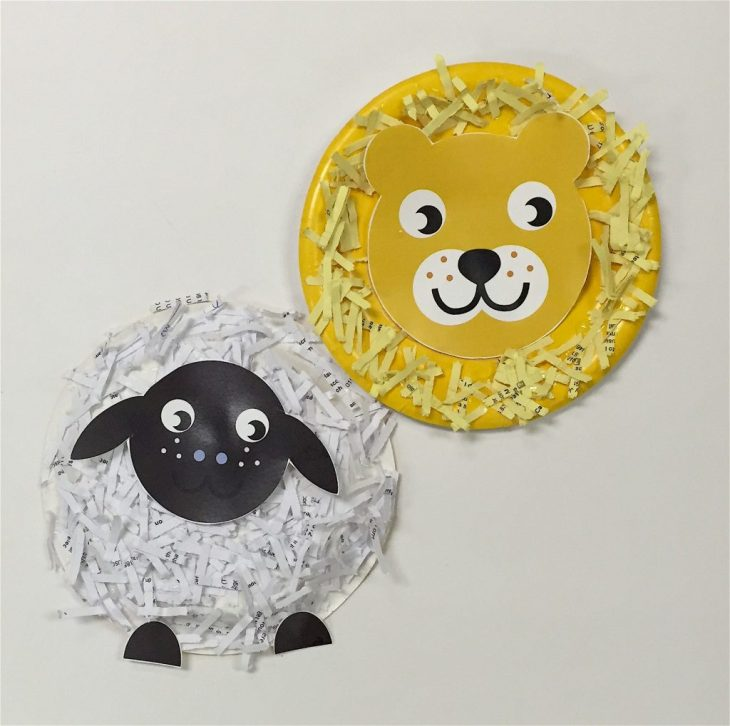 Lion and Lamb Paper Plate Craft