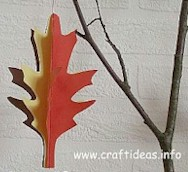 Image of 3 D Paper Leaf