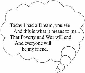 Martin Luther King Jr Handprint Poem