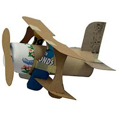 mini bi-plane for kids to make