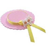 Mini Easter Bonnet Pin