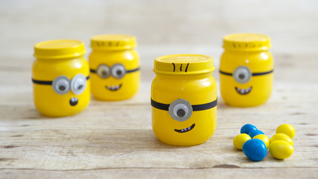 Baby Food Jar Minion Party Favors
