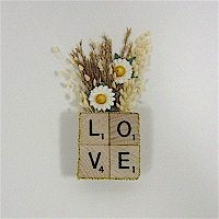 Image of Recycled Scrabble Tile Pin