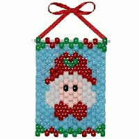 Image of Mrs. Claus Mini Bead Banner