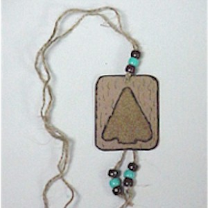 Image of Native American Sand Art Arrowhead Necklace
